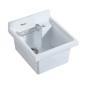 Vitreous China single bowl kitchen drop-in sink