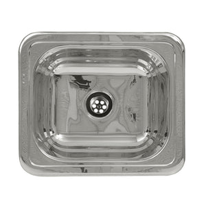 Rectangular drop in entertainment/prep sink with a smooth surface