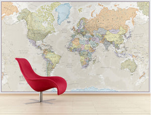 Waypoint Geographic Giant World Map Wall Mural