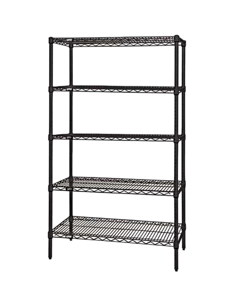 Quantum Storage Systems Wire Shelving 5-Shelf Starter Units - 18