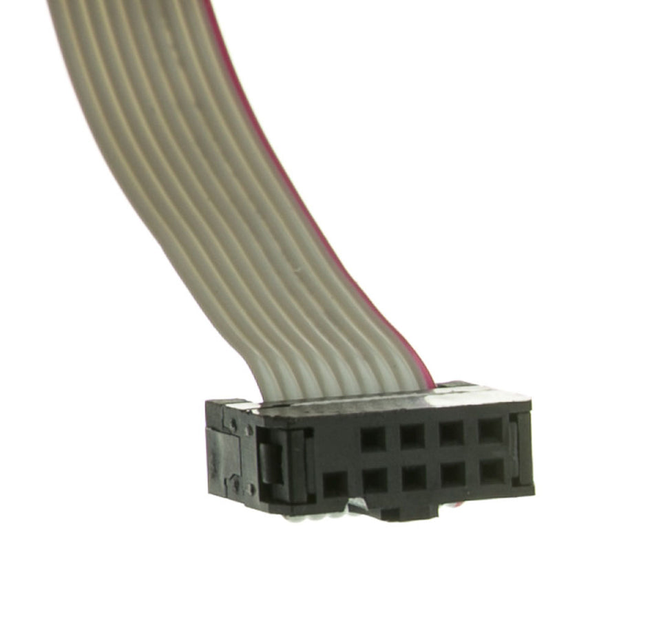 Motherboard Serial Port to Slot Cover Cable, IDC 10 to DB9 Male, 18""