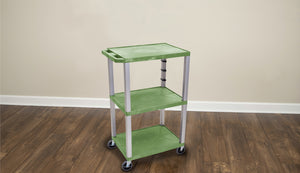 "42"" Tuffy A/V Cart - Three Shelves - Nickel Legs"