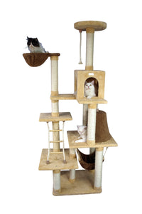 Armarkat 78-Inch Ultra-Soft Premium Cat Tower Tree In Golden Rod