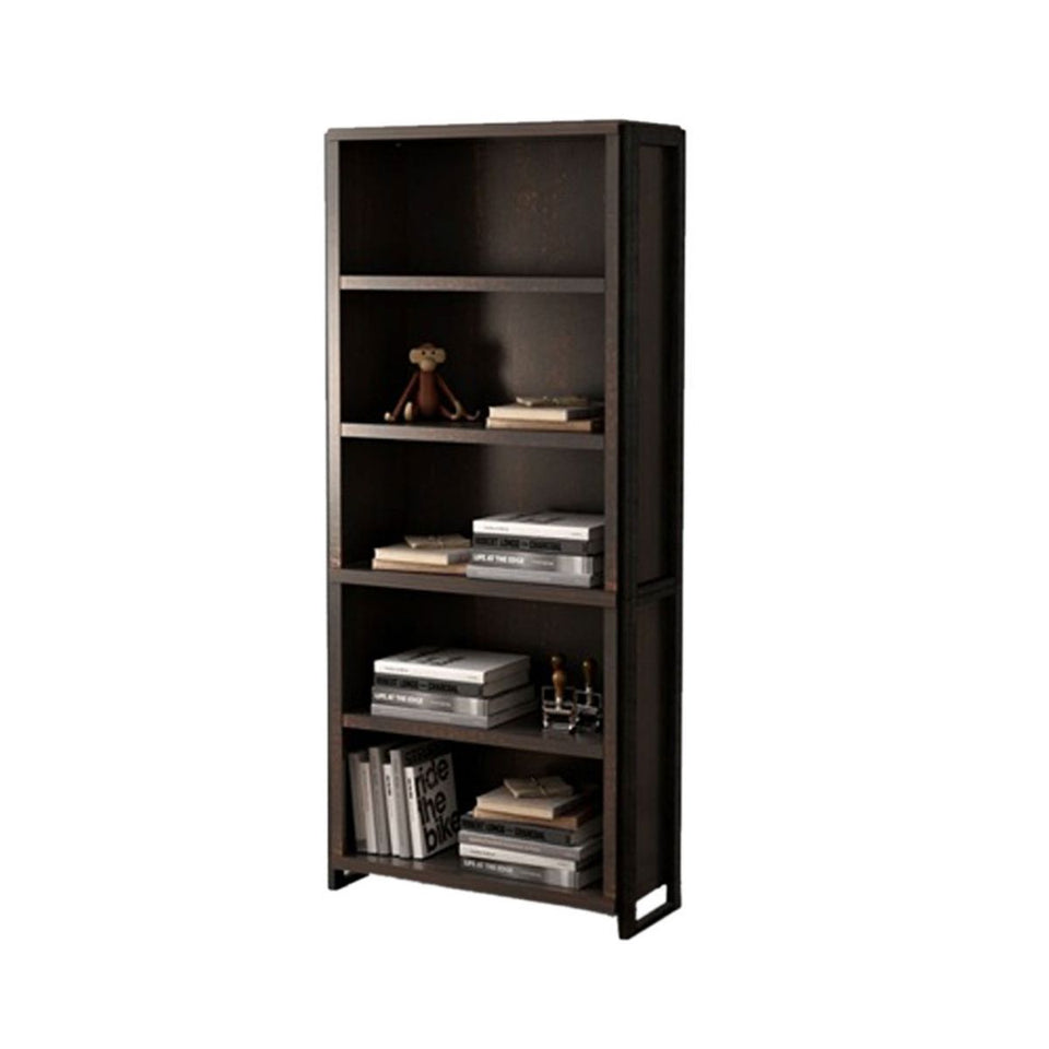 Offex Home Office Freestanding Wood Storage 5 Shelf Bookcase - Dark Chocolate