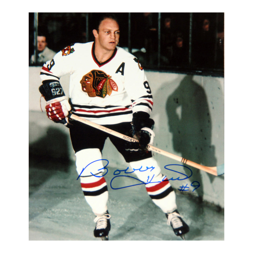 Bobby Hull Autographed 8X10 Photograph - Chicago Blackhawks (White)