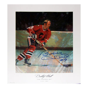 The Golden Jet Autographed Lithograph - Bobby Hull - Chicago Blackhawks