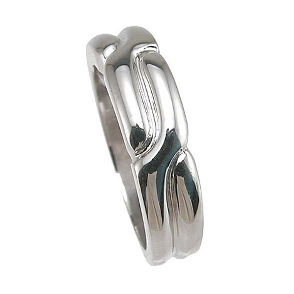 Plutus Brands 925 Sterling Silver Rhodium Finish Anniversary Ring- Size 9 - kkr6617d