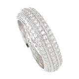 925 Sterling Silver Eternity Ring 1 Carat Weight- Size 7 - kkr6749b