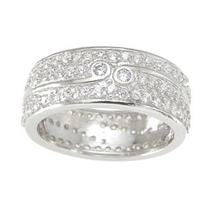 925 Sterling Silver Wedding Band- Size 7- kkr6753b
