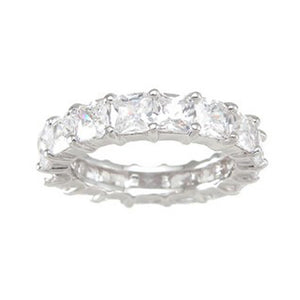 925 Sterling Silver Eternity Ring 1 Carat Weight- Size 8 - kkr6755c