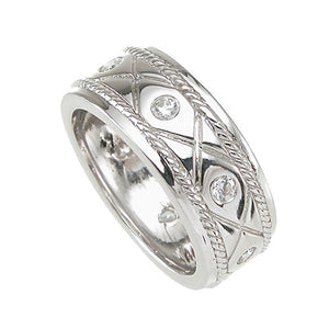 925 Sterling Silver Mens Wedding Band - Size 12 - kkrm6735g