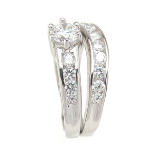 925 Sterling Silver Wedding Set 1 Carat Weight- Size 5 - kkrs6722