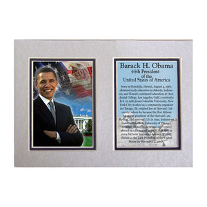 "Barack Obama Photographed in Washington D.C 5"" x 7"" Matted Print"