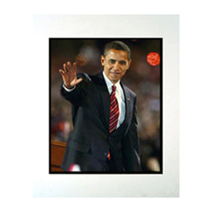 "Barack Obama Waving 11"" x 14"" Photograph in a Mat"