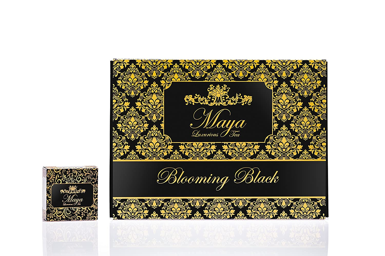 Blooming Black, Pack of 12 by Maya Luxurious