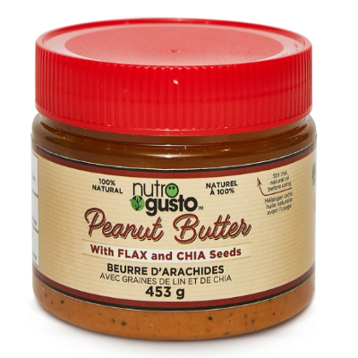 NutroGusto Peanut Butter with Flax and Chia