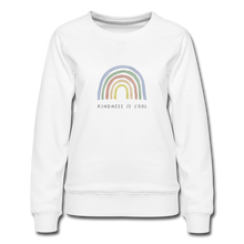Load image into Gallery viewer, Kindness is Cool Rainbow Women's Premium Sweatshirt - white