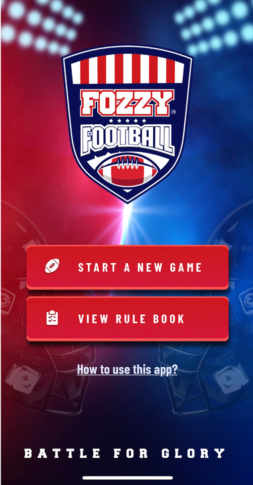 Fozzy Football Mobile App - Best Tailgate Game - Fozzy Football, Table Top Game, Best Football Board Game Ever. Now in gamerooms, mancave games, sports bars, tailgating games, and in family rooms everywhere.