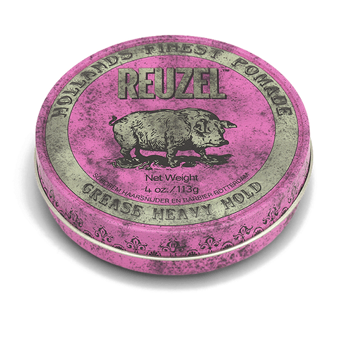 Reuzel Pink Pomade: Strong hold, Medium Shine, Oil Based