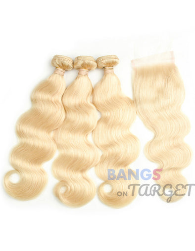 613 Body Wave 3 Bundles Of Hair Blonde Weave Bundles