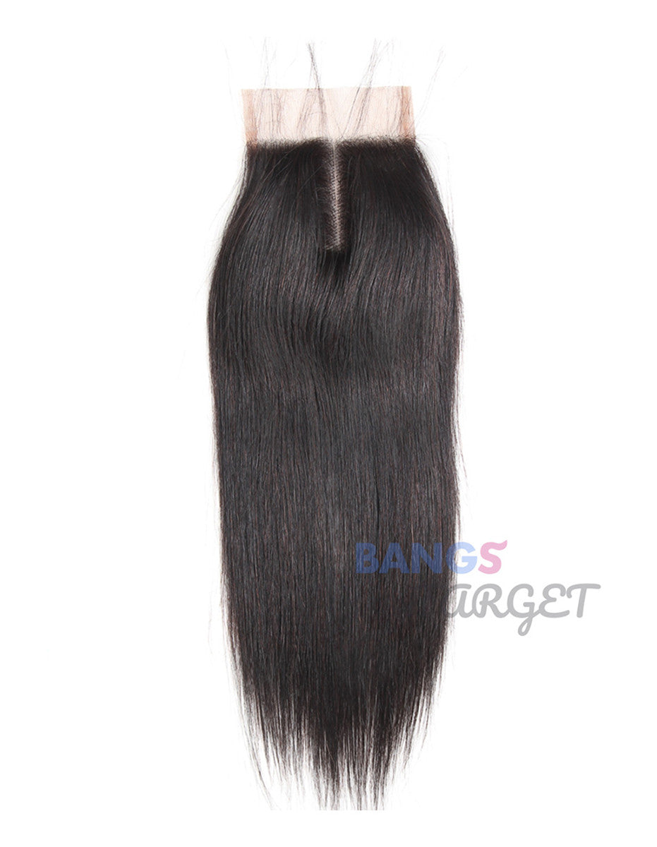 Brazilian Virgin Hair 3 Bundles With Closure Straight