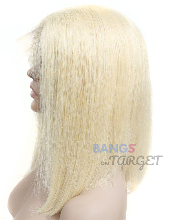 Brazilian Virgin Hair 613 Blonde Short BOB 13x6 Lace Front Wigs
