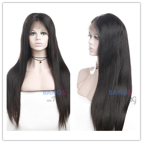 straight hair lace front wigs