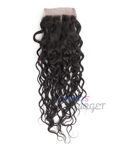 Brazilian Virgin Hair 3 Bundles With Closure Water Wave