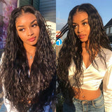 Brazilian Water Wave Lace Wigs For Women Lace Front Wigs with Pre-Plucked Hairline