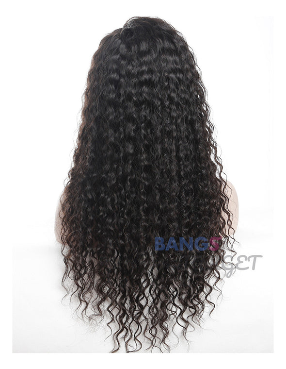 water wave human hair lace front wig