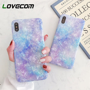 LOVECOM Dream Conch étuis pour iphone 11 Pro Max XR XS Max 6 6S 7 8 Plus X souple IMD corps complet