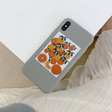 Charger l'image dans la galerie, LOVECOM Fruits Orange Ikebana étuis pour iphone XS Max XR XS X 6 6S 7 8 Plus Doux TPU Complet Corps