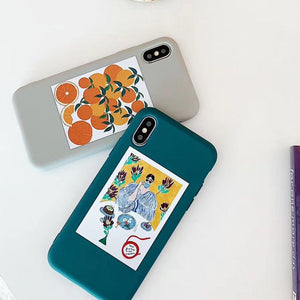 LOVECOM Fruits Orange Ikebana étuis pour iphone XS Max XR XS X 6 6S 7 8 Plus Doux TPU Complet Corps