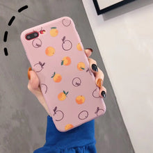 Charger l'image dans la galerie, LOVECOM Mignon Fruits Orange Peint étuis pour iphone XS Max XR XS X 6 6S 7 8 Plus Souple Ultra-mince