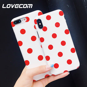 LOVECOM Vague Point Téléphone étuis pour iphone XS Max XR 6 6S 7 8 Plus X XS Souple IMD Mignon