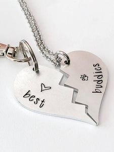 Hand Stamped Dog Tag and Necklace