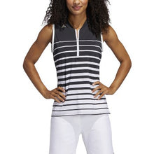 Load image into Gallery viewer, Adidas - Engineered Stripe Sleeveless Polo