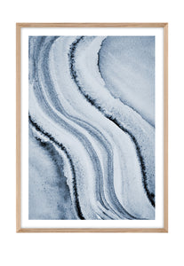 All Blue 3 (CHOOSE FRAME COLOUR) 75x100cm CLEARANCE