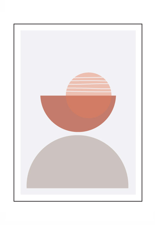 Geo Sunrise (PRINT ONLY with border) 40x50cm Clearance