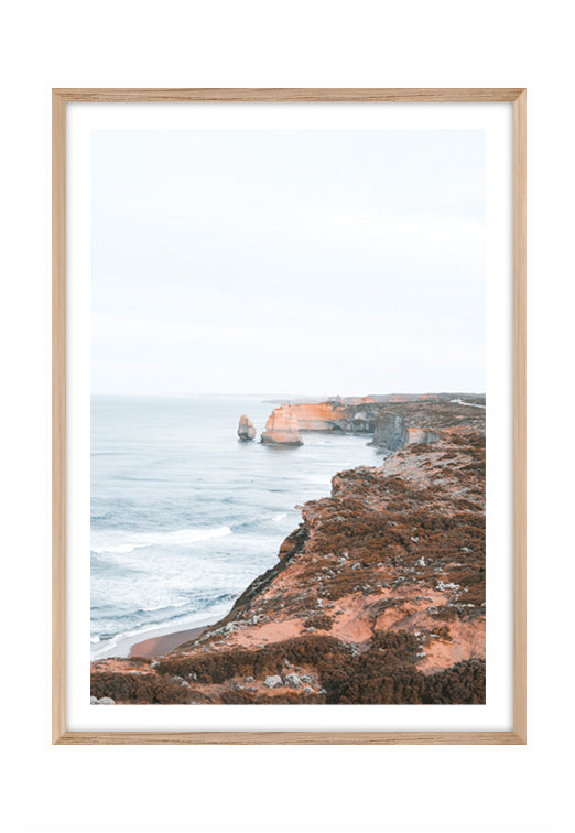 Great Ocean Coastline (CHOOSE FRAME COLOUR) 65x90cm CLEARANCE
