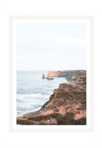 Load image into Gallery viewer, Great Ocean Coastline (CHOOSE FRAME COLOUR) 65x90cm CLEARANCE