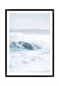 Great Ocean Waves (CHOOSE FRAME COLOUR) 65x90cm CLEARANCE
