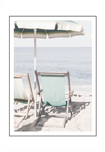 Lazy Beach Portrait (PRINT ONLY with border) 50x70cm Clearance
