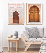 Load image into Gallery viewer, Moroccan Blush (CHOOSE FRAME COLOUR) 75x100cm CLEARANCE