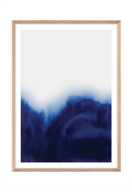 Waterwash Blue (CHOOSE FRAME COLOUR) 75x100cm CLEARANCE
