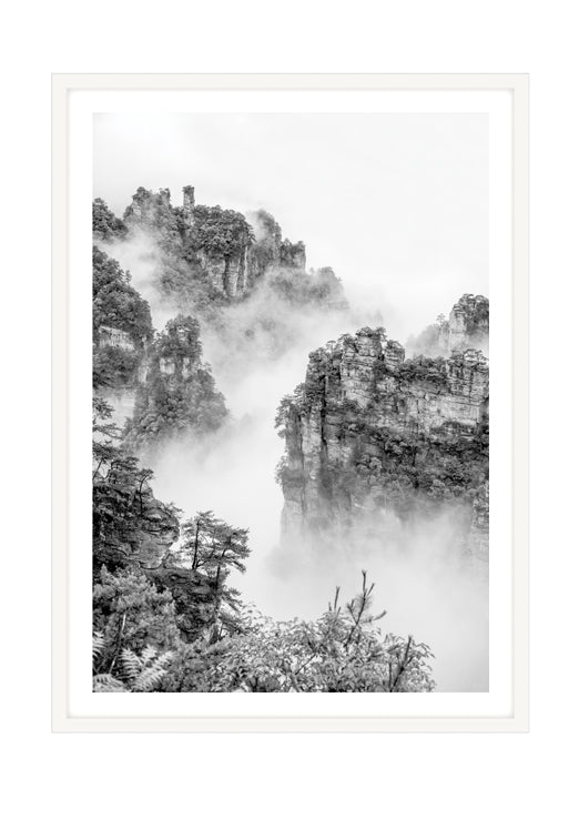 Zhangjiajie Grey 2 (CHOOSE FRAME COLOUR) 65x90cm CLEARANCE