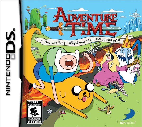 Adventure Time: Hey Ice King! Why'd You Steal Our Garbage?!! Nintendo DS Game Box Art