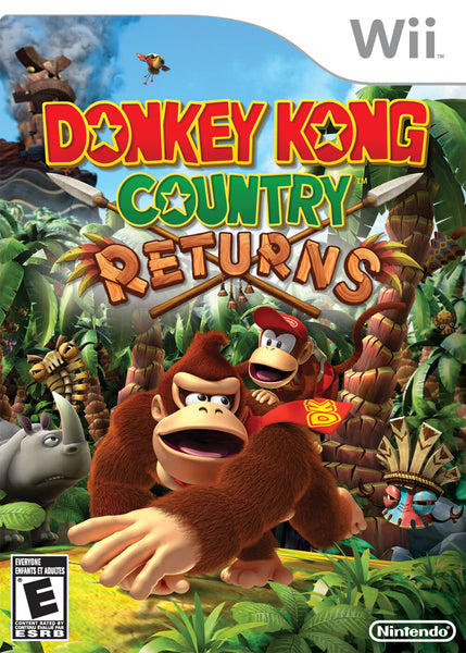 Donkey Kong Country Returns Nintendo Wii Game Box Art