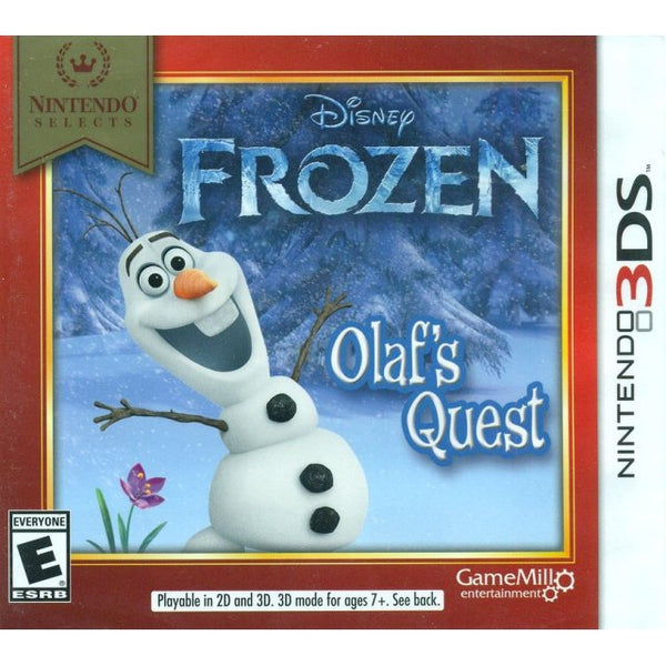 Frozen Olaf's Quest Nintendo 3DS Game