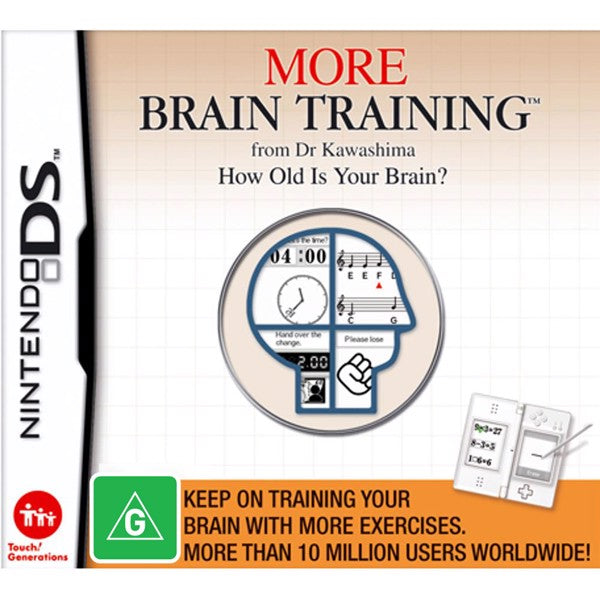 More Brain Training from Dr Kawashima: How Old Is Your Brain? Nintendo DS Game
